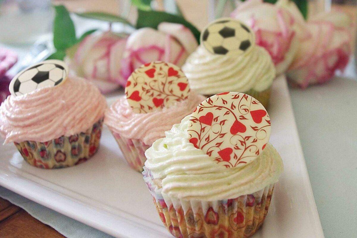 Fußball-Cupcake