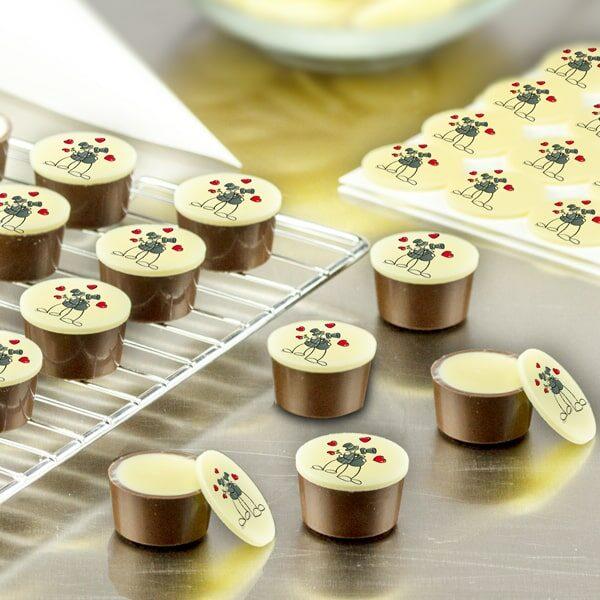 Pralinen- und Dessertaufleger